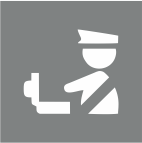 Security checkpoints icon